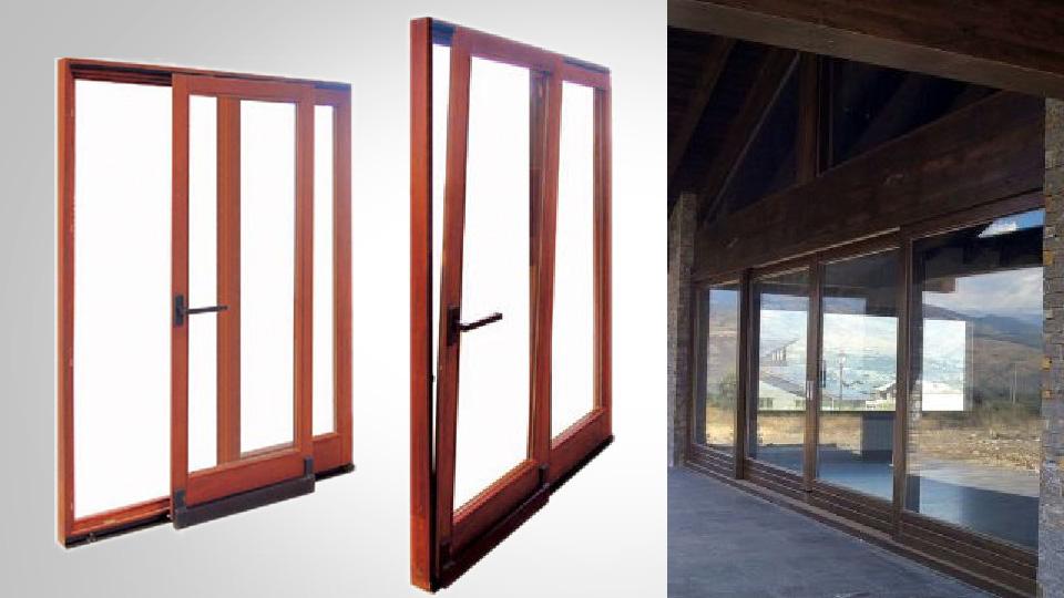 Ventanas osciloparalelas carpinteria de aluminio en for Puerta osciloparalela